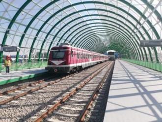 Primul tren de test a ajuns la Aeroportul Otopeni