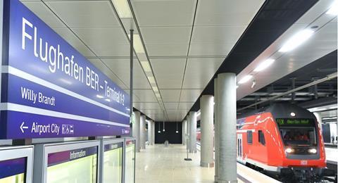 Linia S-Bahn Berlin a fost extinsă până la aeroportul BER