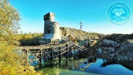 A fost demolat vechiul pod feroviar de la Grădiștea. În curând va începe construcția noului pod.
